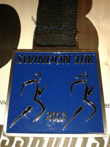 Swindon 10K medal
