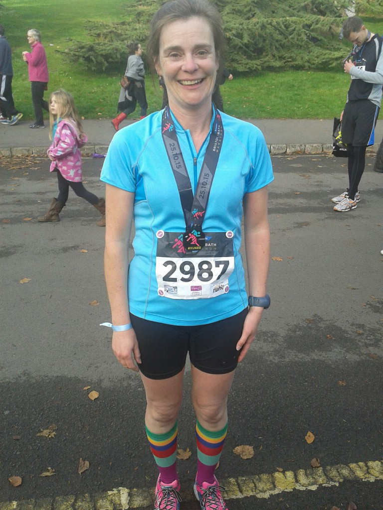 Apparently I didn't look like I'd just run a marathon