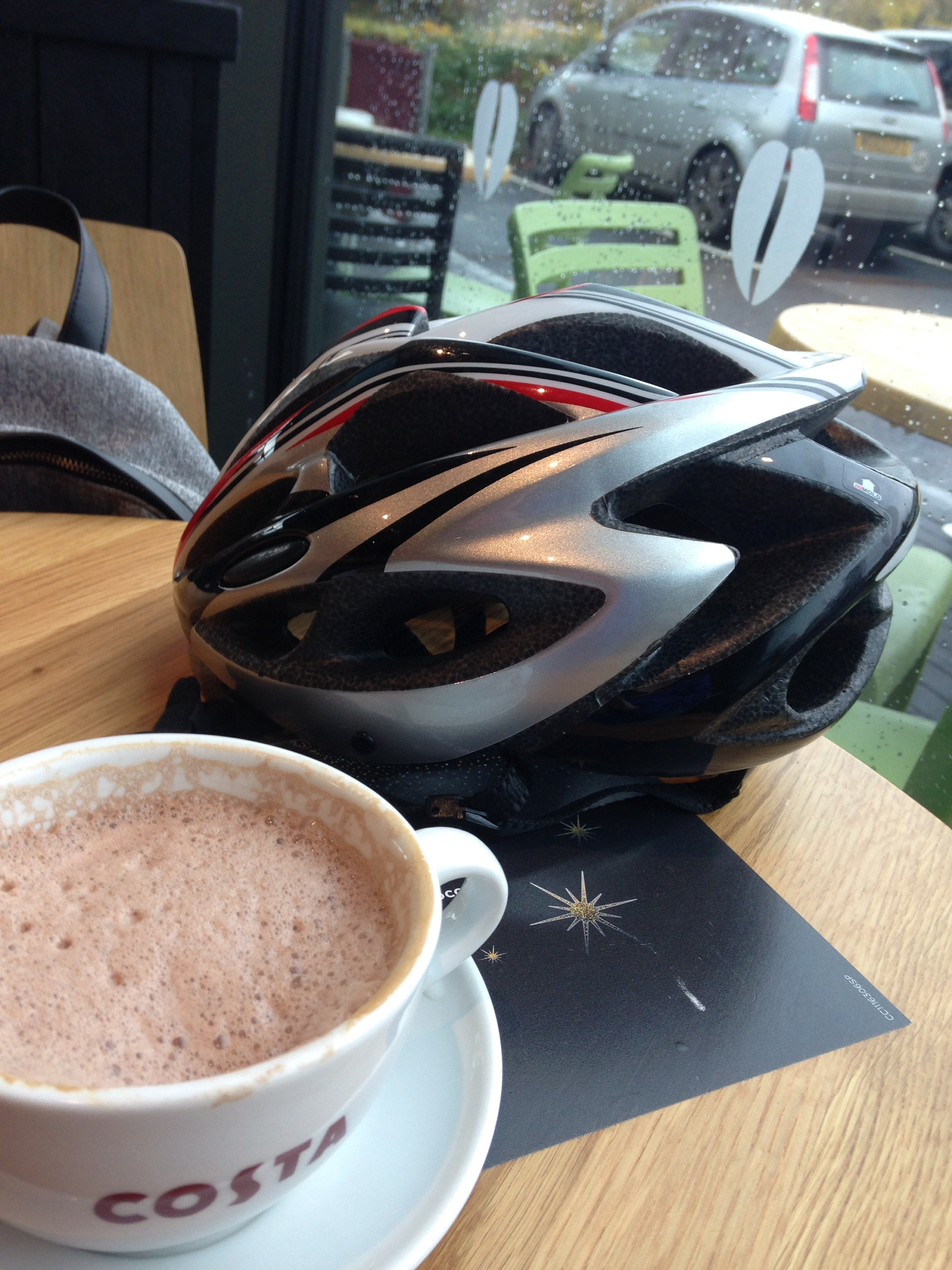 Compulsory 'helmet and drink' shot