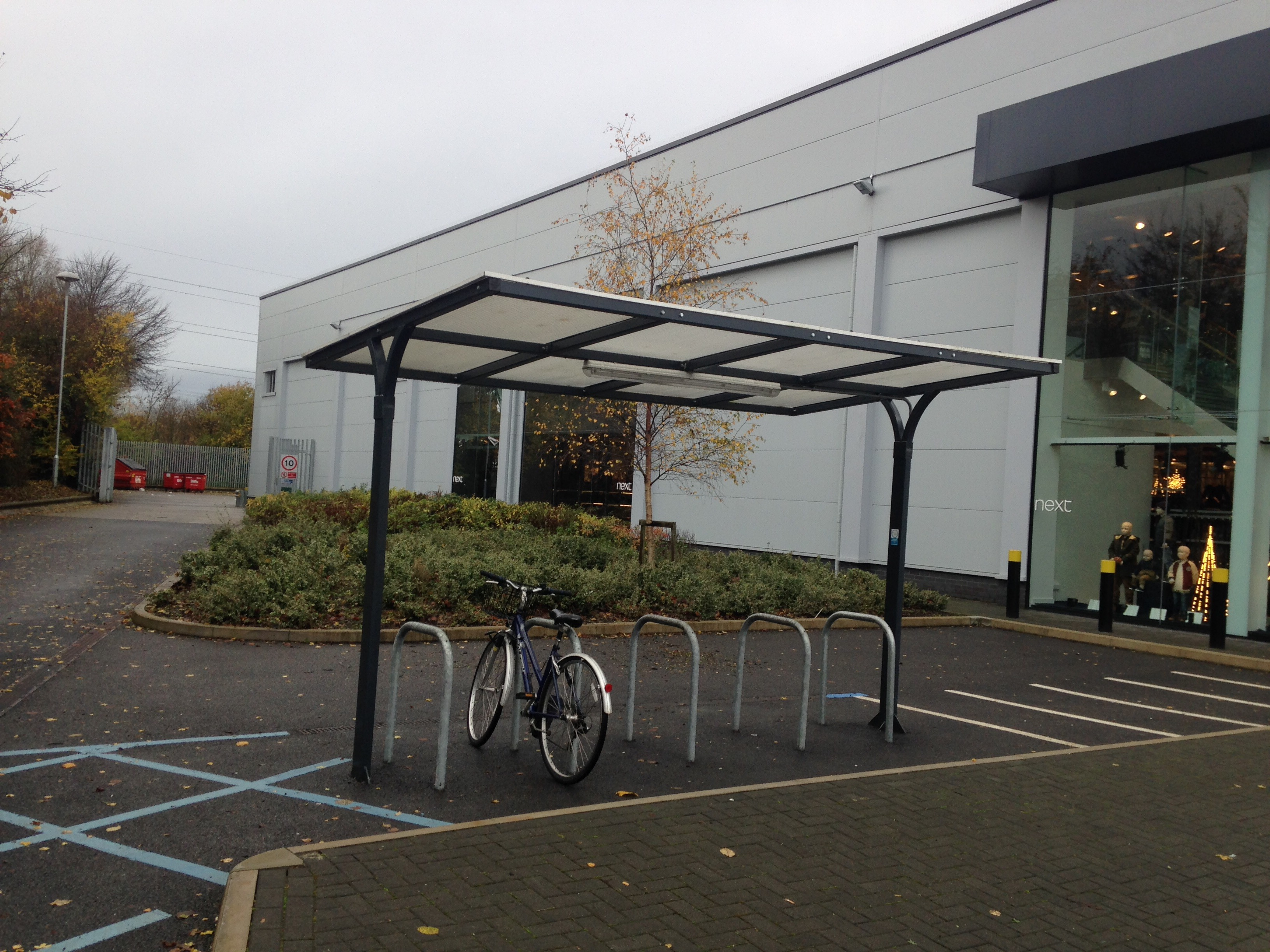 Luxury bike parking with a roof!