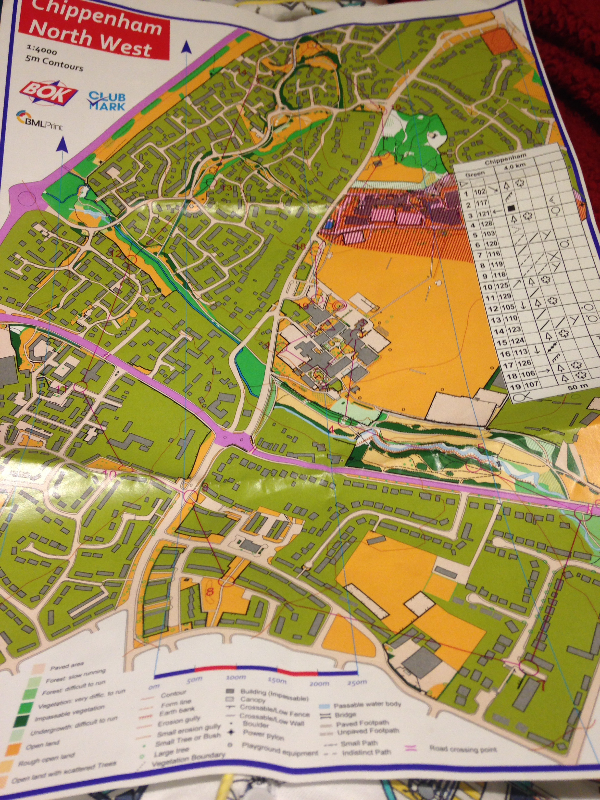 Photo of orienteering map