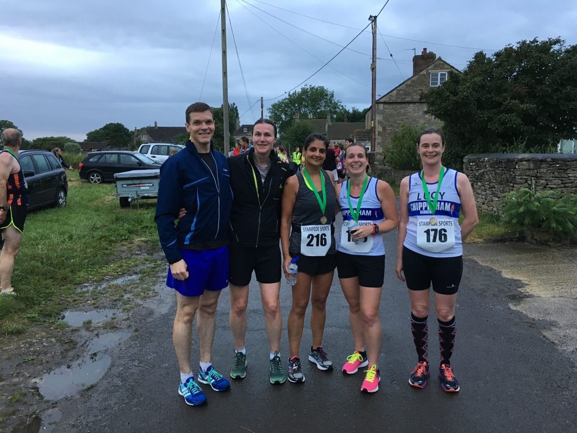 Harriers at the finish line